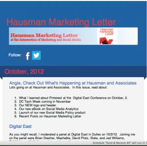 hml email newsletter