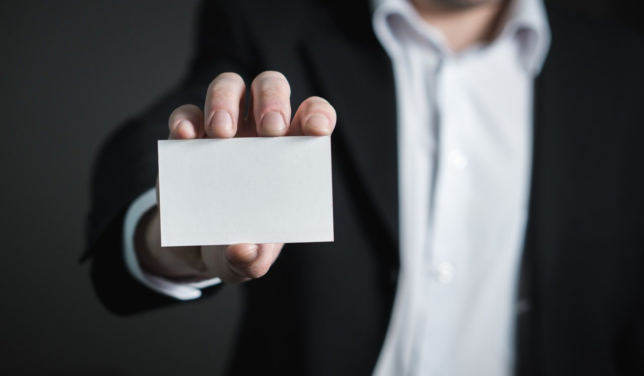 use your business cards