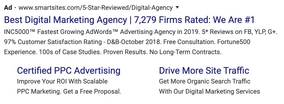 google ads marketing - extensions