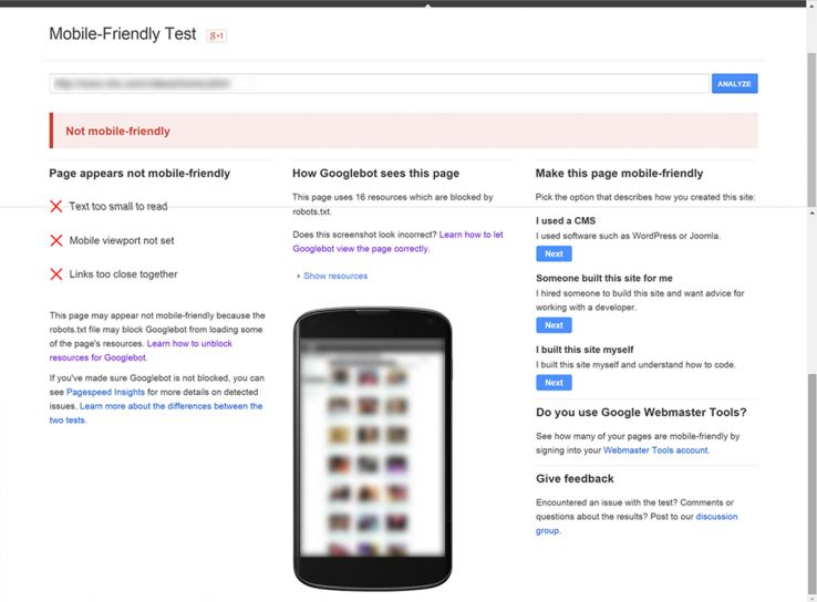 seo and design - mobile friendly